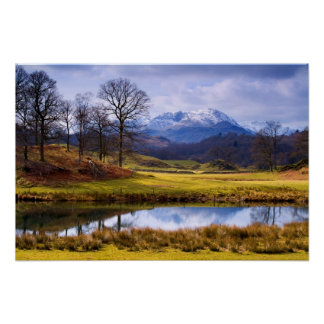 Wetherlam from the River Brathay Poster