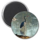 Wetland Crane 2 Inch Round Magnet