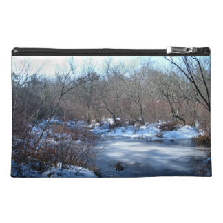 Wetland Ponds in Winter Travel Accessories Bags