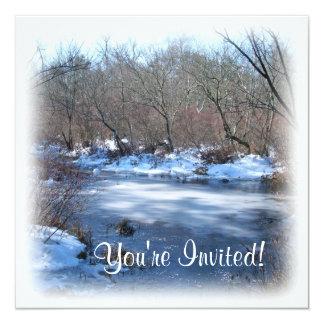 Wetland Ponds in Winter Card