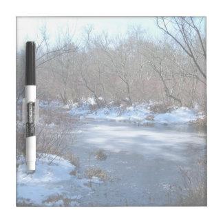 Wetland Ponds in Winter Dry-Erase Board