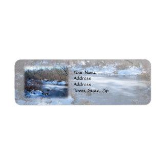 Wetland Ponds in Winter Label