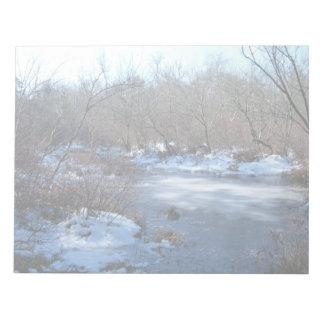 Wetland Ponds in Winter Notepad