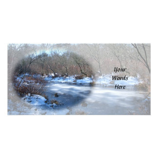 Wetland Ponds in Winter Photo Card