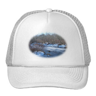 Wetland Ponds in Winter Trucker Hat