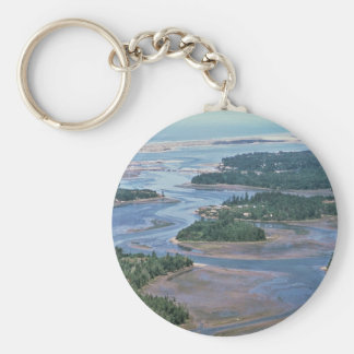 Wetland, South Slough Coos Bay, OR Basic Round Button Keychain