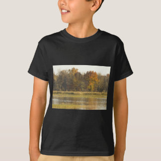 WETLAND WITH AUTUMN TREES IN BACKGROUND AND DUCKS T-Shirt