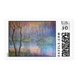 Wetlands at Sunset Postage
