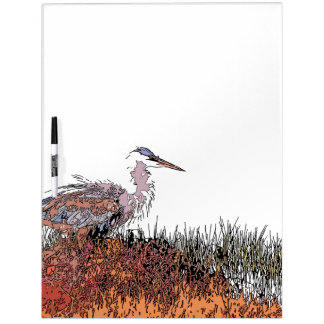 Wetlands Birds Wildlife Animals Photography Dry-Erase Board