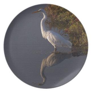 Wetlands Birds Wildlife Animals Photography Melamine Plate