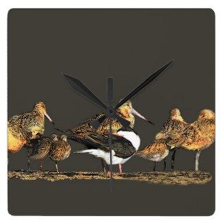 Wetlands Birds Wildlife Animals Refuge Square Wall Clock