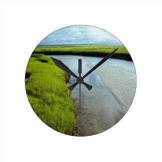Wetlands Round Wall Clock