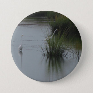 Wetlands Egret Button