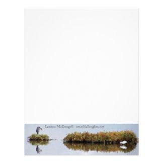 Wetlands Egrets Letterhead