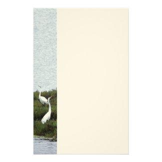 Wetlands Egrets Stationery