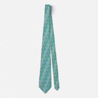 Wetlands Grasses Turquoise Tie