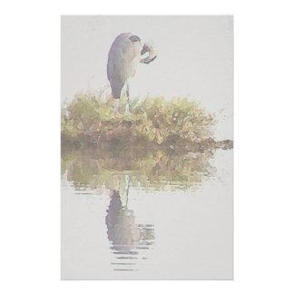 Wetlands Heron Stationery