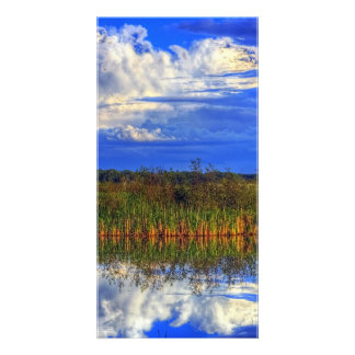 Wetlands Reflection Personalized Photo Card