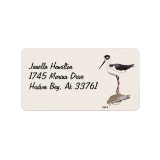 Wetlands Stilt Bird Address Labels