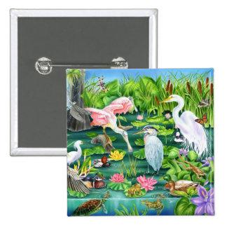 Wetlands Wonder Pinback Button