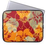 Wetsuit hawaiano del neopreno del hibisco del punt mangas portátiles