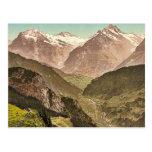 Wetterhorn and Schreckhorn, from Schynige Platte, Postcards