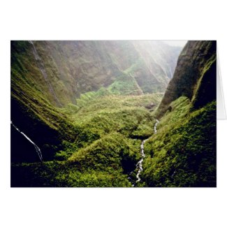 Wettest Spot On Earth (365 Days Of Rain) - Kauai Card