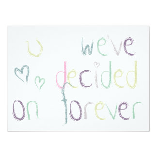 We've decided on forever - Wedding Day Card