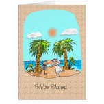 We've Eloped Announcement Greeting Card