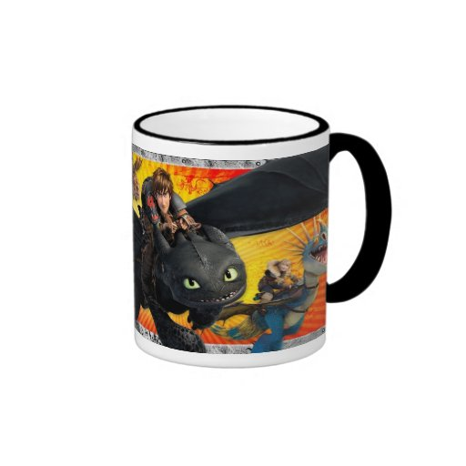 We've Got Dragons Ringer Coffee Mug