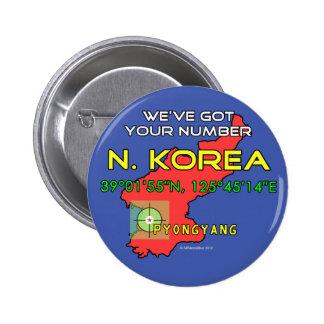 We've Got Your Number North Korea Pinback Button