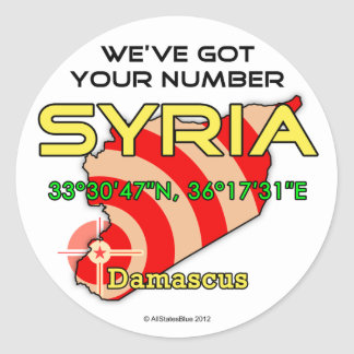 We've Got Your Number Syria Classic Round Sticker