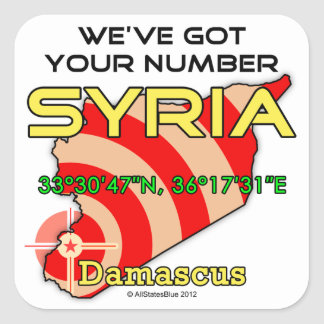 We've Got Your Number Syria Square Sticker