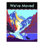 "We've I've Moved Announcement Up North Territory 4.25"" X 5.5"" Invitation Card"
