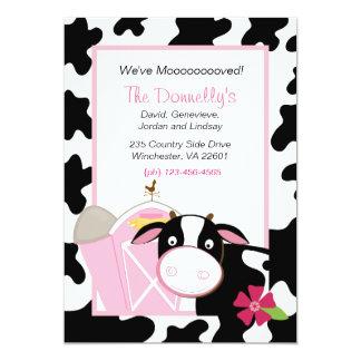 We've Moooooved Cow Moving Invitation
