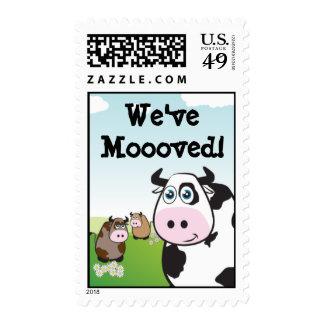 We've Mooved! Stamps