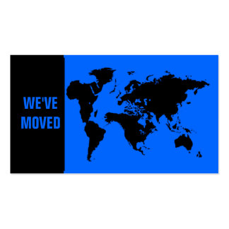 We've moved abroad Double-Sided standard business cards (Pack of 100)