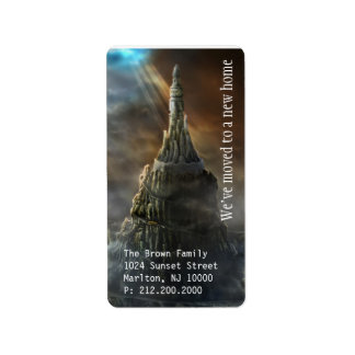 We've Moved | Amazing Tower Castle Label