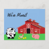 We've Moved (Animal Farm Style) Announcement Postcard