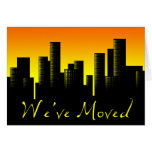 we've moved announcement : cityscape card