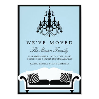 """We've Moved Announcement 5"""" X 7"""" Invitation Card"""