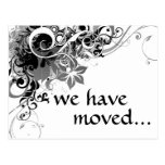 we've moved announcement post card