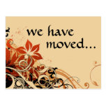 we've moved announcement post cards