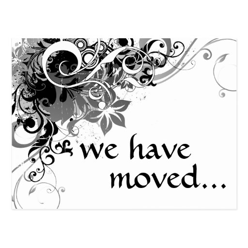 we've moved announcement postcard