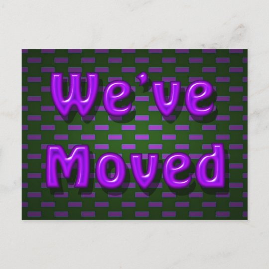 we ve moved announcement postcard zazzle com