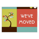 we've moved announcement : retro tree cards