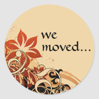 we've moved announcement sticker