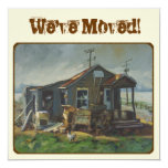 """We've Moved announcements 5.25"""" Square Invitation Card"""