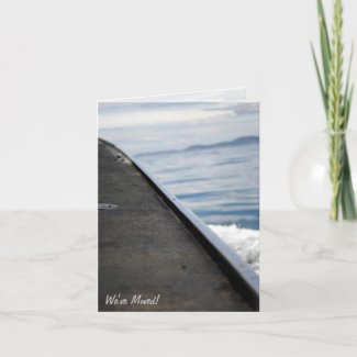 We've Moved! Boat on Water Card card
