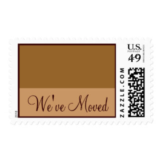 We've Moved Brown Tan Stamps